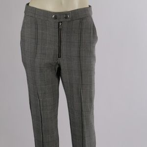 ROMEO & JULIET Couture Black White Plaid Pants